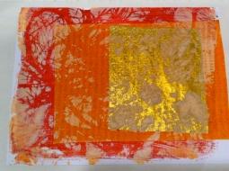 gelatin print:goldleaf