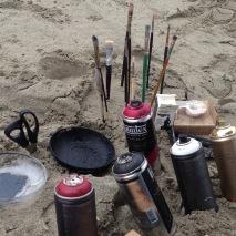 art at the beach.